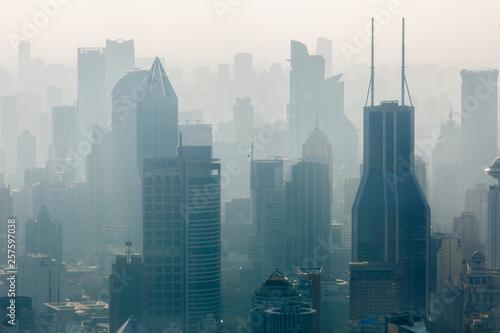 Montage in der Fensternische Shanghai Shanghai Skyline (close up)