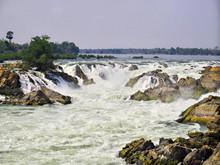 Khone Phapheng Falls, Waterfall, Mekong River, Laos, Champassak