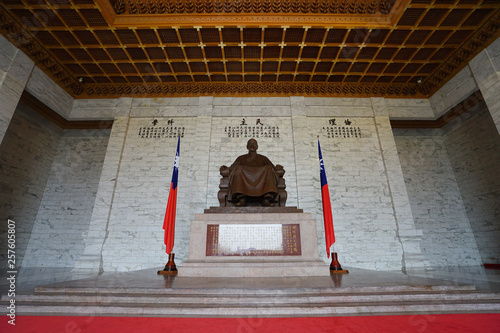 Chiang Kai Shek statue in C.K.S. memorial hall Canvas Print