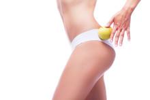 Female Body With Yelloow Apple...