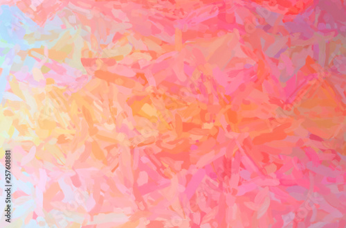 Photo  Abstract illustration of red Impressionist Impasto background