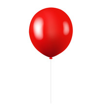 Red Balloon Isolated White Bac...