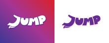 Jump Word Cartoon Style. Lette...