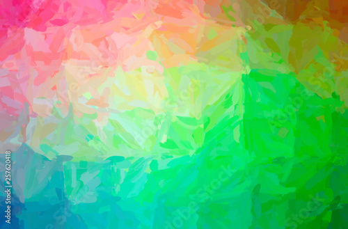 Abstract illustration of green Impressionist Impasto background Wallpaper Mural