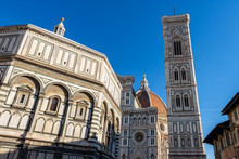 Florence Cathedral - Bell Tower Of Giotto And Baptistery