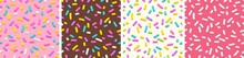 Set Of Seamless Patterns Of Do...