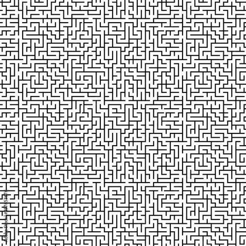 Großflächiges nahtloses Labyrinth Muster Canvas Print