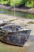 Thames Barge At Low Tide