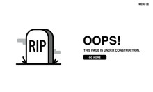 Error Page With RIP Tombstone