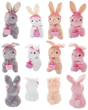 Colorful Bunnies With Baskets ...