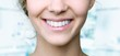 Leinwandbild Motiv Beautiful wide smile of young fresh woman with great healthy white teeth. Isolated over background