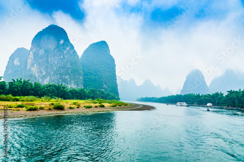Canvas Prints Guilin Landscape with river and mountains
