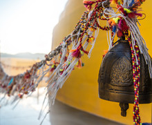Prayer Bells At Buddhist Templ...