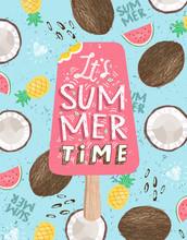 Summer! Cute Vector Illustrati...