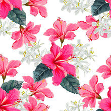 Flower Seamless Pattern With H...