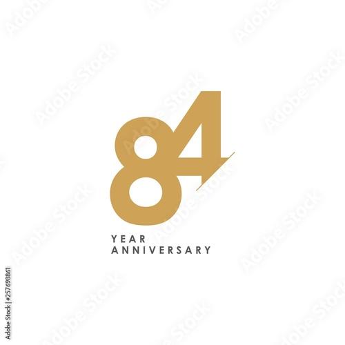 Photo  84 Year Anniversary Vector Template Design Illustration