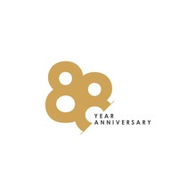 88 Year Anniversary Vector Template Design Illustration