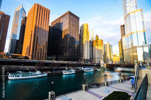 In de dag Chicago Chicago City Scape 4
