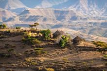 ETHIOPIA, Small Farm With Traditional Tucul-houses On A Ridge Near Lalibela