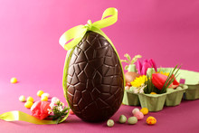 Chocolate Egg For Easter And Decoration