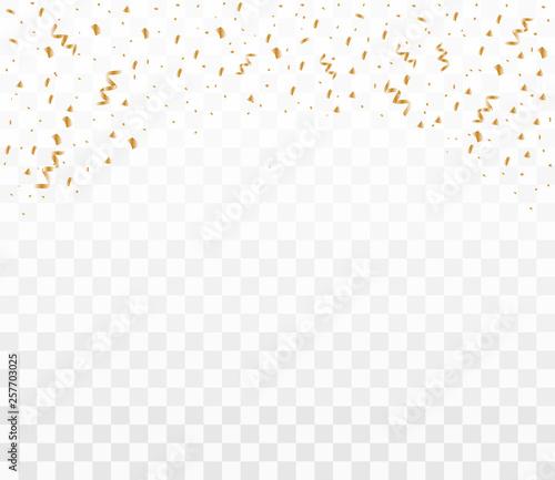 Fototapeta Shiny golden confetti obraz na płótnie
