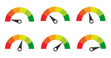 Scale. Gauge. Meter. Indicators With Different Indicators.