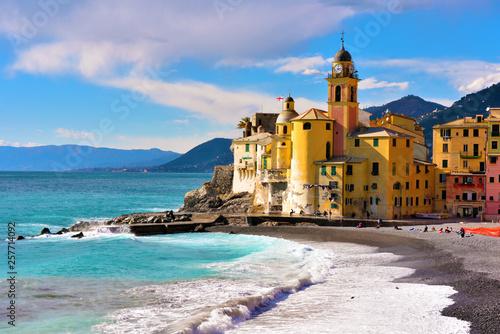 Foto auf Gartenposter Ligurien glimpse of Camogli, Genoa, Italy