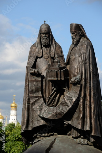 Monument Reunion at the Cathedral of Christ the Savior in Moscow Wallpaper Mural