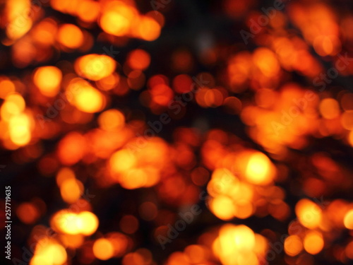 Fotografie, Tablou  Blurred infernal Hellfire - texture for background