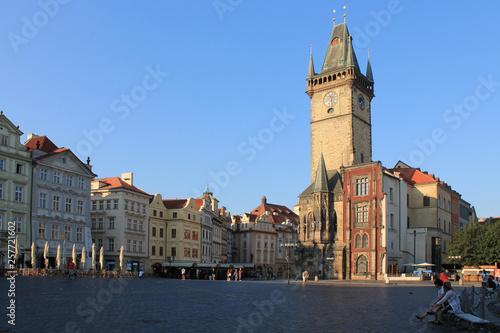 Stickers pour porte Venise Old town square in Prague Czech Republic