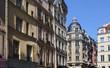 Apartment buildings in Paris, France