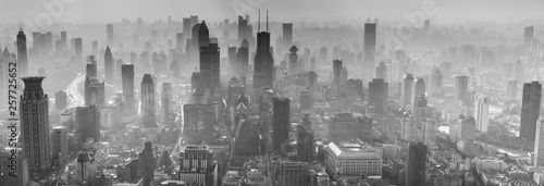 Foto auf Leinwand Shanghai Panorama of Shanghai Skyline (China)