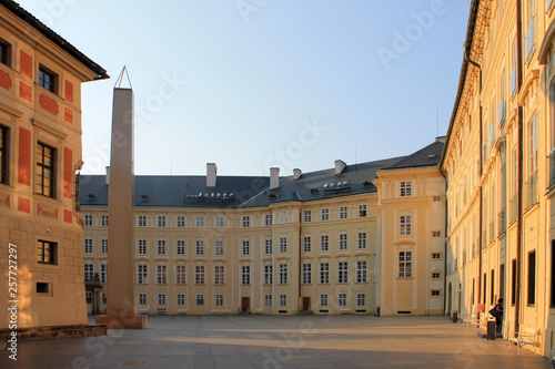Foto  The historical centre of Prague, Czech Republic in the morning without people