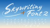 Skywriting Font-2: Vapor-Inspired Lower-Case: 44 characters. For people whose hearts are in the clouds
