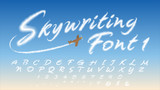 Skywriting Font-1: Vapor-Inspired Upper-Case: 50 characters. For people whose hearts are in the clouds