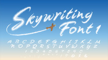 Skywriting Font-1: Vapor-Inspi...