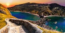 Scenic Landscape Of San Juan De Gaztelugatxe, Basque Country, Spain.