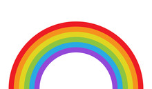 Vector Illustration Of Rainbow...