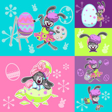 Busy Easter Bunny Set