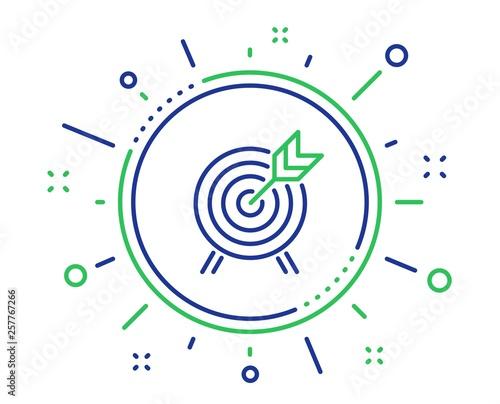 Obraz na płótnie Archery line icon
