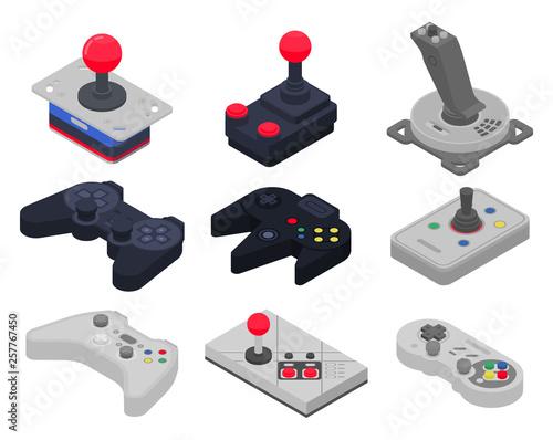 Photo  Joystick icons set