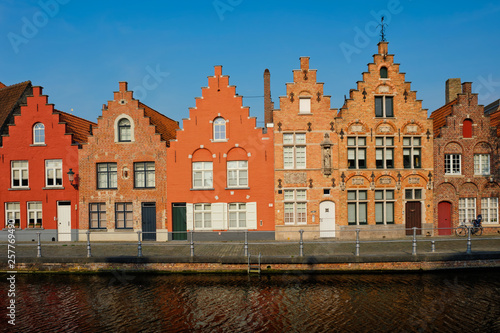 Wall Murals Bridges Canal and old houses. Bruges (Brugge), Belgium