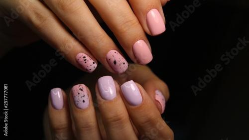 Aluminium Prints Manicure stylish design of manicure