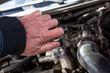Mechanic at work. Car repair.