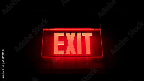 exit sign Fototapete
