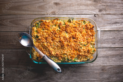 Photo  Turkey casserole with broccoli and rice