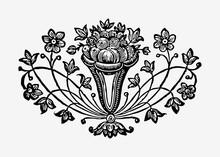 Vintage Flowers In A Vase Illustration