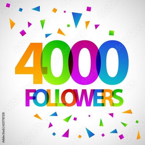 Fototapeta 4000 followers social media banner vector design