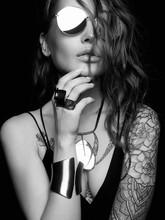 Beautiful Sexy Woman With Tattoo