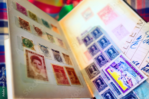Foto op Aluminium Imagination Old fashioned stamps album series